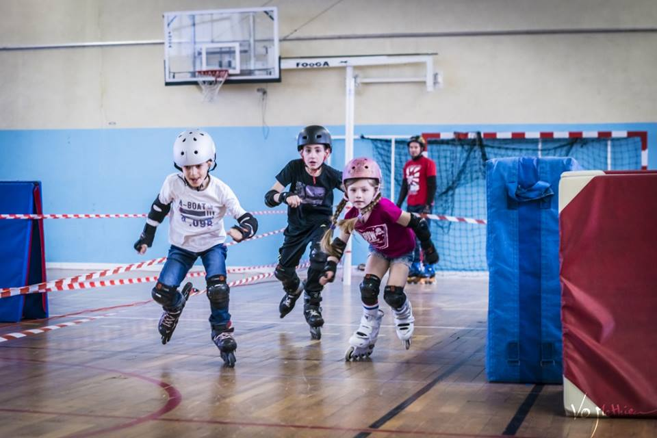 Illustration du sport École de Roller